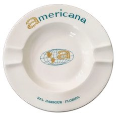 Americana Hotel Bal Harbour, Fl Ashtray by Harker