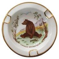 Royal Chelsea Canadian Wildlife Series Bear Ashtray