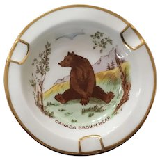 Royal Chelsea Canadian Wildlife Series Bear Ashtray