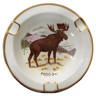 Royal Chelsea Canadian Wildlife Series Moose Ashtray