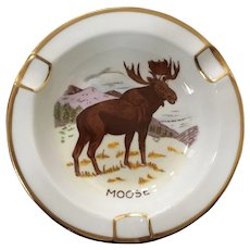 Royal Chelsea Canadian Wildlife Series Moose Ashtray