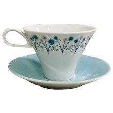 Ben Seibel Impromptu Garland Cup & Saucer By Iroquois China