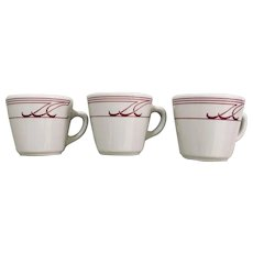 Homer Laughlin Heartland Mauve 3 Cup Set