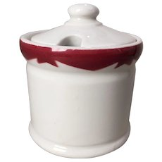 McNicol Red Crest Covered Mustard Pot