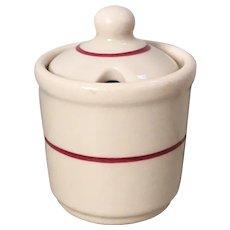 Iroquois IRO-TAN Ware Covered Mustard Pot