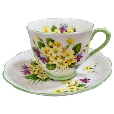 Royal Albert Primulette Cup and Saucer
