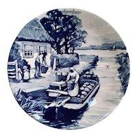Royal Delft Westraven Delfts September Calendar Plate