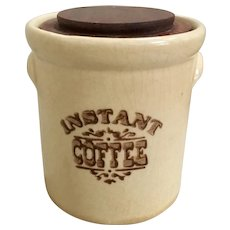 Pfaltzgraff Village Instant Coffee Covered Cannister