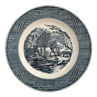 Royal China Currier and Ives Old Grist Dinner Plate