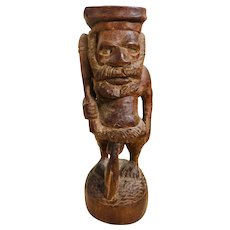 Carved Wood African Phallus Sculpture