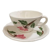Continental Kilns Green Arbor Cream Cup & Saucer Set