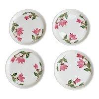 Continental Kilns Green Arbor Cream Salad Plate Set of 4