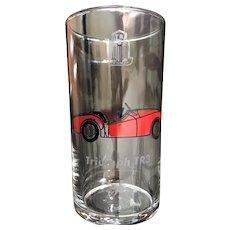 Vintage Mobil Oil 1960 Triumph TR3 Glass by Libbey