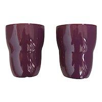 Set of Two Starbucks Plum Aida Mugs