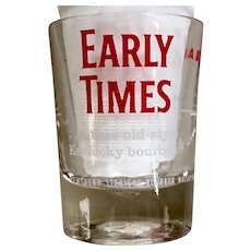 Early Times Bourbon Shot Glass by Federal Glass