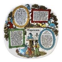 1960's West Germany Capricorn Zodiac Porcelain Plate