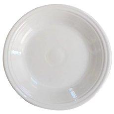 Homer Laughlin Fiesta Ware White Dinner Plate