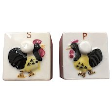 Vintage Japanese Rooster Salt and Pepper Shakers
