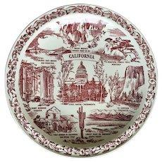 California State Plate by Vernon Kilns