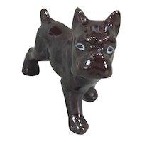 Vintage Japanese Redware Bulldog