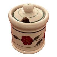 Shenango Inca Ware Floral Mustard Pot