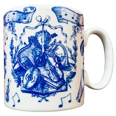 Spode Blue Room Musical Instruments Mug