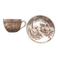 Brownhills Pottery Mersey Pattern Cup & Saucer Set
