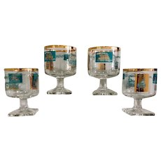 Libbey Southern Comfort Riverboat Promotional Glass Set