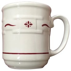 Longaberger Pottery Woven Traditions Red Mug