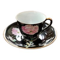 Chugai Occupied Japan Poppy Demitasse Cup & Saucer Set