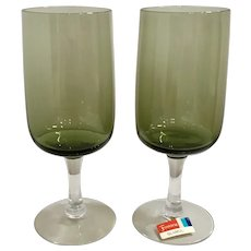 Fostoria Glamour Green Wine Glass Set