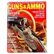 Vintage Guns and Ammo Magazine August 1966