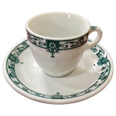 McNicol China Carlton Pattern Demitasse Cup & Saucer