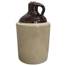 Stoneware Salt Glaze Moonshine Whisky Jug with an Albany Slip Glaze Top
