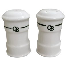 Steelite Hotel Ware Salt & Pepper Shakers with CB Logo