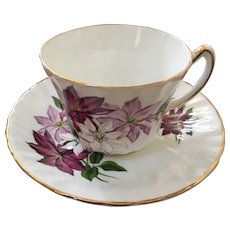 Royal Kendall Floral Clematis Tea Cup & Saucer