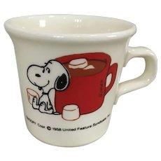 Snoopy Chocolate & Marshmallow Mug 1958 Taylor Smith USA