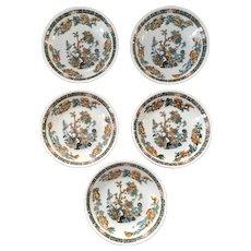 Scammell Lamberton China Indian Tree Pattern Berry Bowl Set