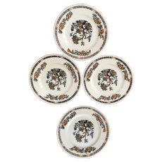 Scammell Lamberton China Indian Tree Pattern Luncheon Plate Set of Four