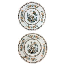 Syracuse China Indian Tree Pattern Salad/Luncheon Plate Set of Two