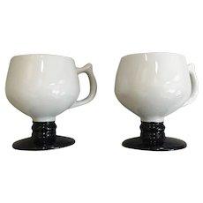 Vintage Hall Pedestal Mug Set of 2 Pattern 2274
