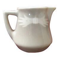 Vintage Airbrushed Restaurant Ware Creamer Grey and White
