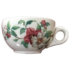 Scammell Lamberton Ivory Restaurant Ware Cup Apple Blossom Pattern