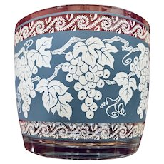 Hazel Atlas Grape Leaves Design Glass Ice Bucket Pattern ATC41