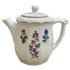 Porcelier Tri Floral Teapot