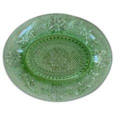 Tiara Chantilly Green Snack Plate / Tray