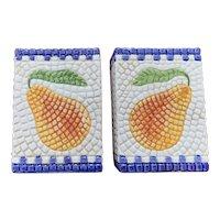 Clay Art Mosaic Pear Range Top Salt & Pepper Set
