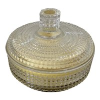Vintage Avon Crystal Beauty Dust W Glass Container