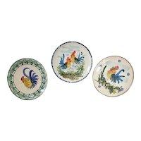 Ceramiche F. IIi Martina Rooster Plate Set Lecche Italy