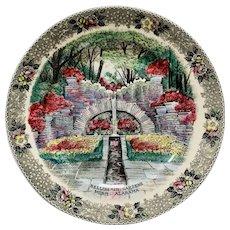 Bellingrath Gardens Mobile Alabama Old English Staffordshire Commemorative Plate